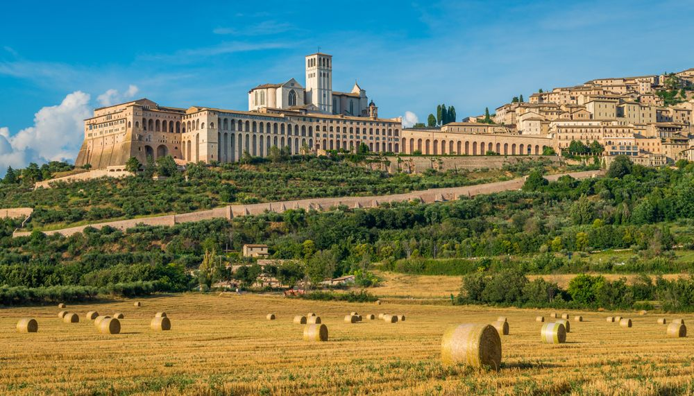 Panoramic view of Assisi, Italy