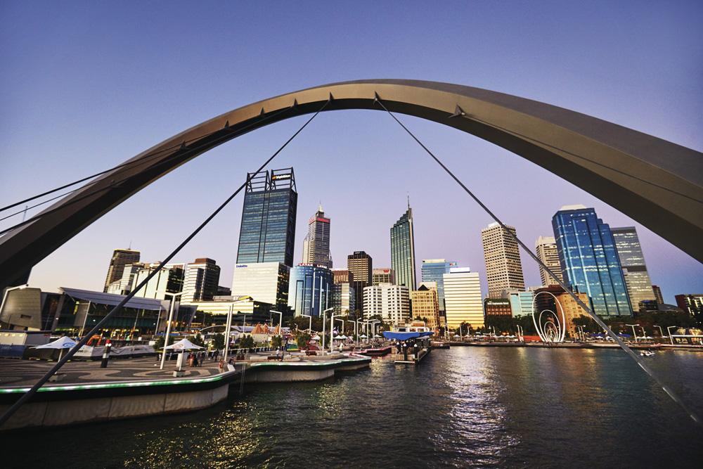 Dusk at Elizabeth Quay, Perth, Western Australia, Australia