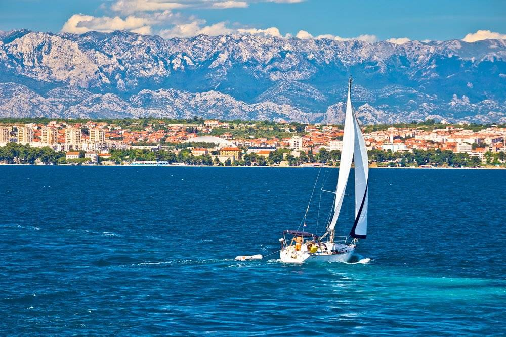 Sailing along the Dalmation coast of Zadar, Croatia