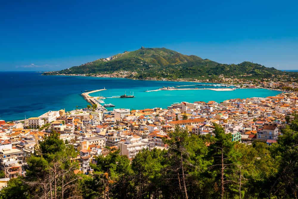 Summer view of Zante Town, Zakynthos, Ionian Islands, Greece