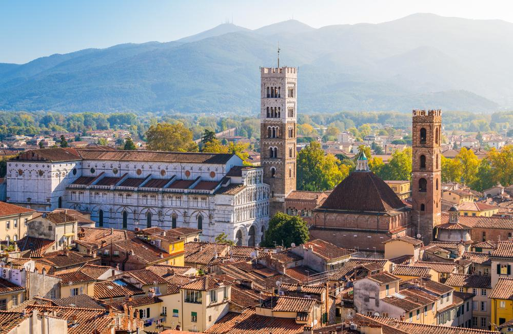 View of Lucca, with Duomo of San Martino (Lucca Cathedral), Italy