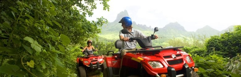 ATV Tour in Moorea, Islands of Tahiti (French Polynesia)