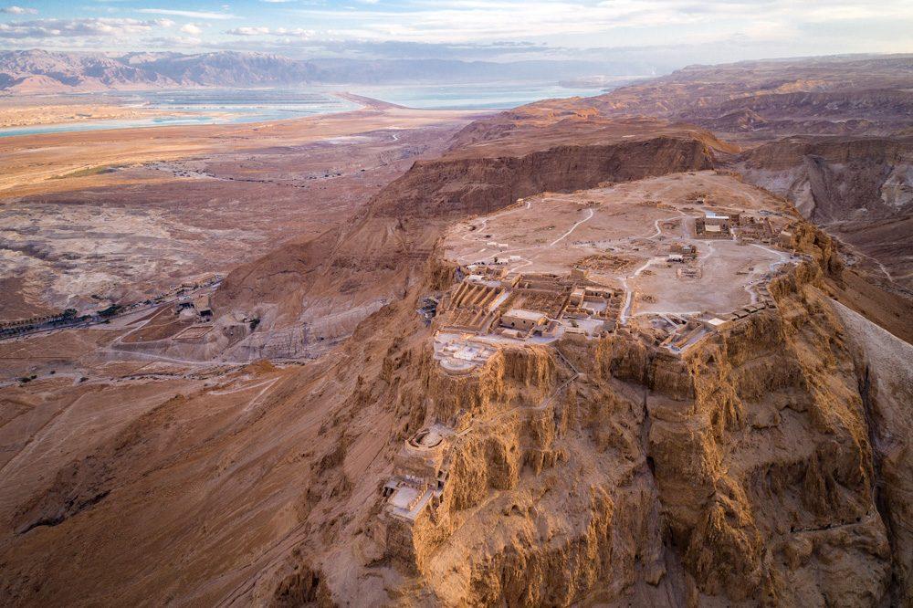 Aerial view of Fortress of Masada, Israel