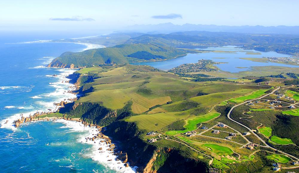 Aerial view of Knysna in the Garden Route, South Africa