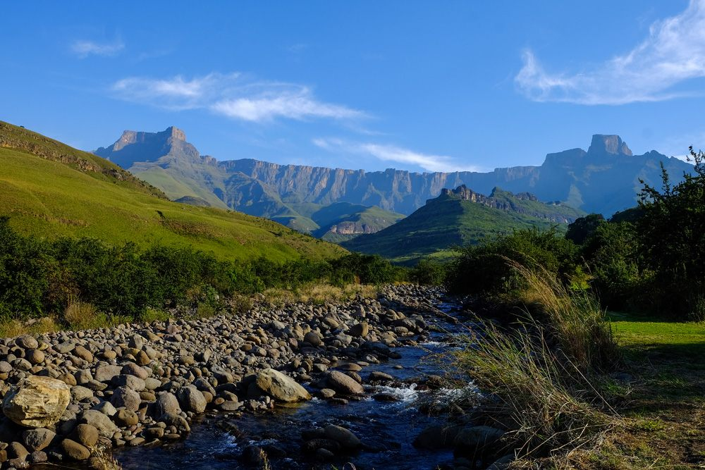 Ampitheatre with Tugela River in the Northern Drakensberg, KwaZulu-Natal, South Africa