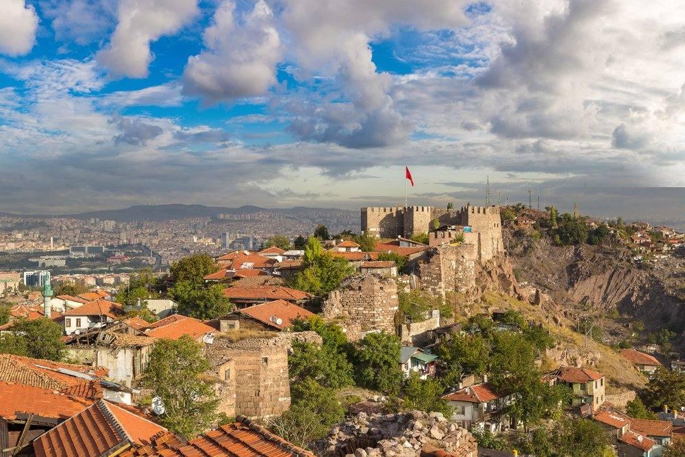 Ankara Castle on a beautiful summer day, Ankara, Turkey