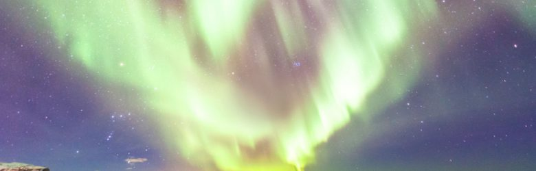 Aurora Borealis or Northern Lights view during winter, Iceland