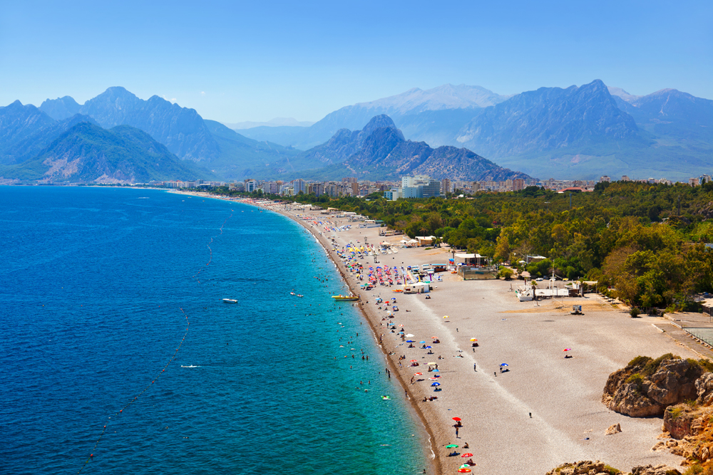 Beach at Antalya, Turkey