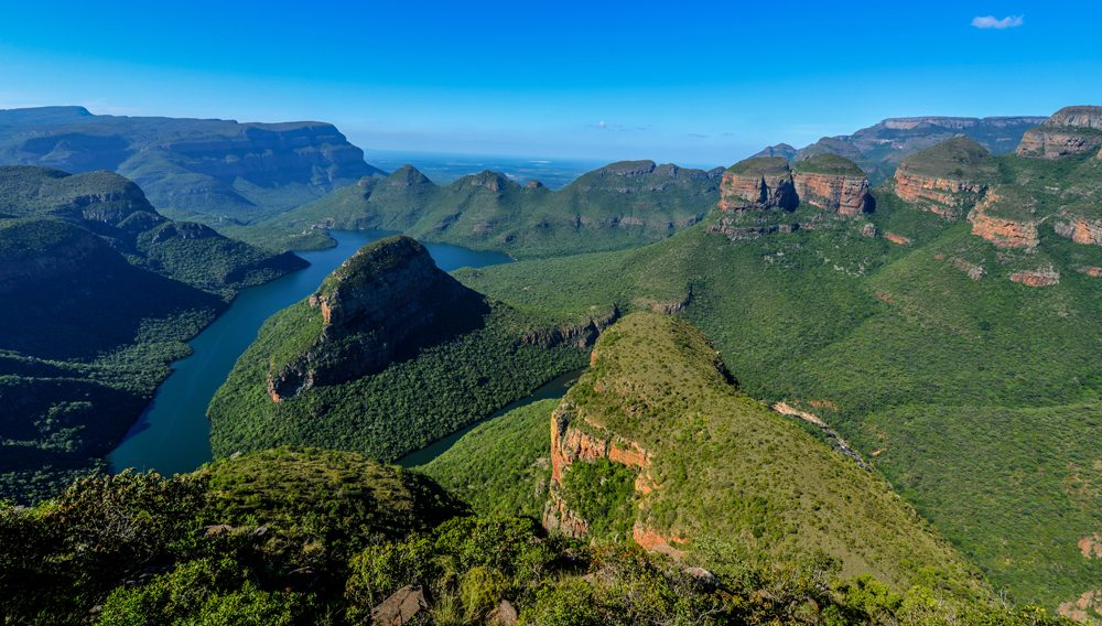 Blyde River Canyon and The Three Rondavels (Three Sisters) in Mpumalanga, South Africa
