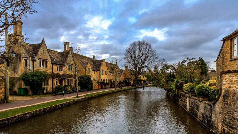 Bourton-on-the-Water in Cotswold, England, UK