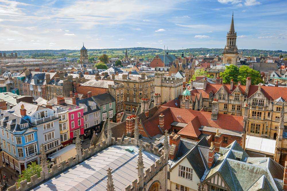 Cityscape of Oxford. England, UK