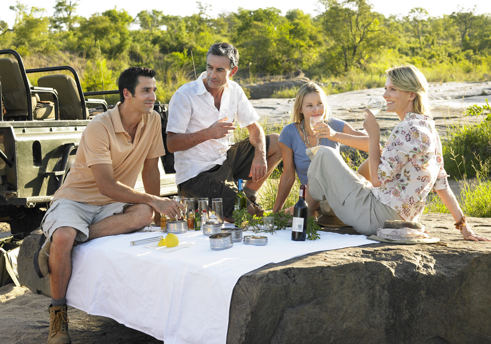 Couples enjoying a picnic at Kruger National Park, South Africa