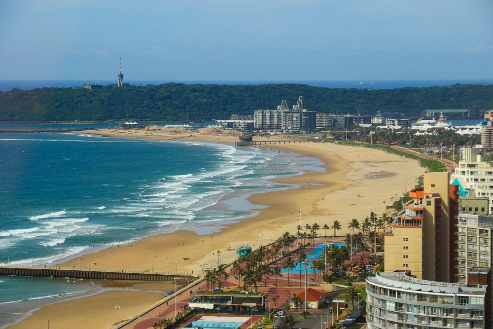 Durban's Golden Mile beachfront, KwaZulu-Natal, South Africa