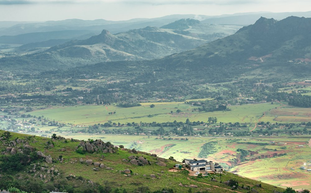 Ezulwini Valley in Swaziland between Mbabane and Manzini, South Africa