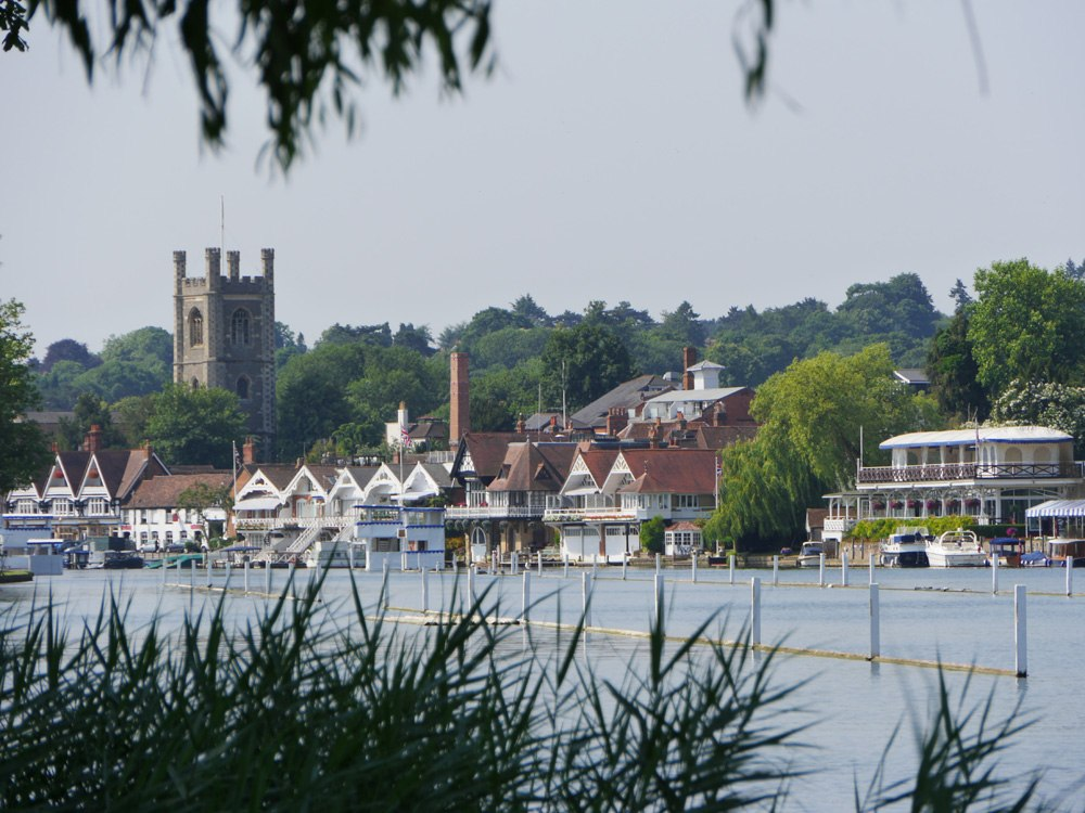 Henley on Thames from the river bank, Thames Valley, England, UK