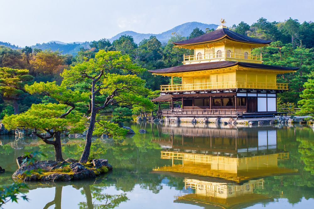 Inkaku-ji Zen Buddhist Temple (Golden Pavilion), Kyoto, Japan