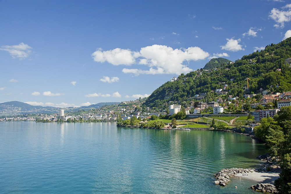 Lake Geneva in the Montruex region, Switzerland