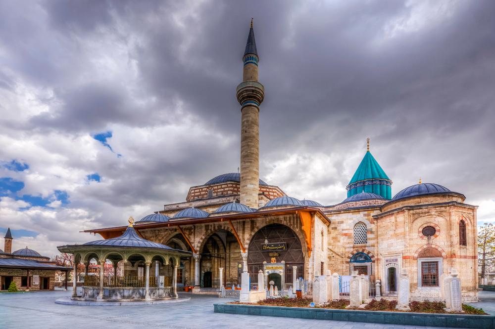 Mevlana Tomb and Mosque in Konya, Turkey