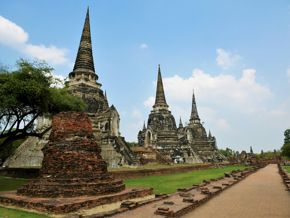 Ruins of Wat Phra Si Samphet in Ayutthaya, Thailand