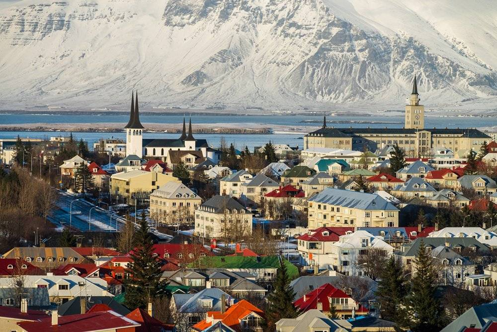 Scenic view of Reykjavik, Iceland