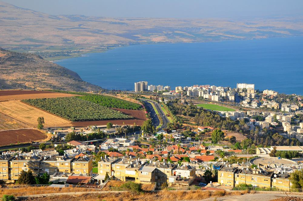 Tiberius city and the Sea of Galilee, Israel