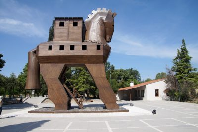 Trojan Horse replica on the site of ancient Troy, Turkey