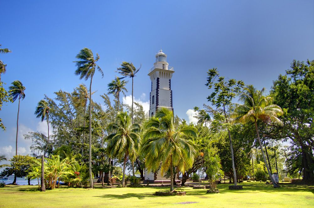 Venus Point Lighthouse, Venus Point, Tahiti, Islands of Tahiti (French polynesia)