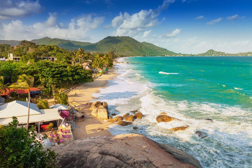 View of Lamai Beach on the coast of Koh Samui, Thailand