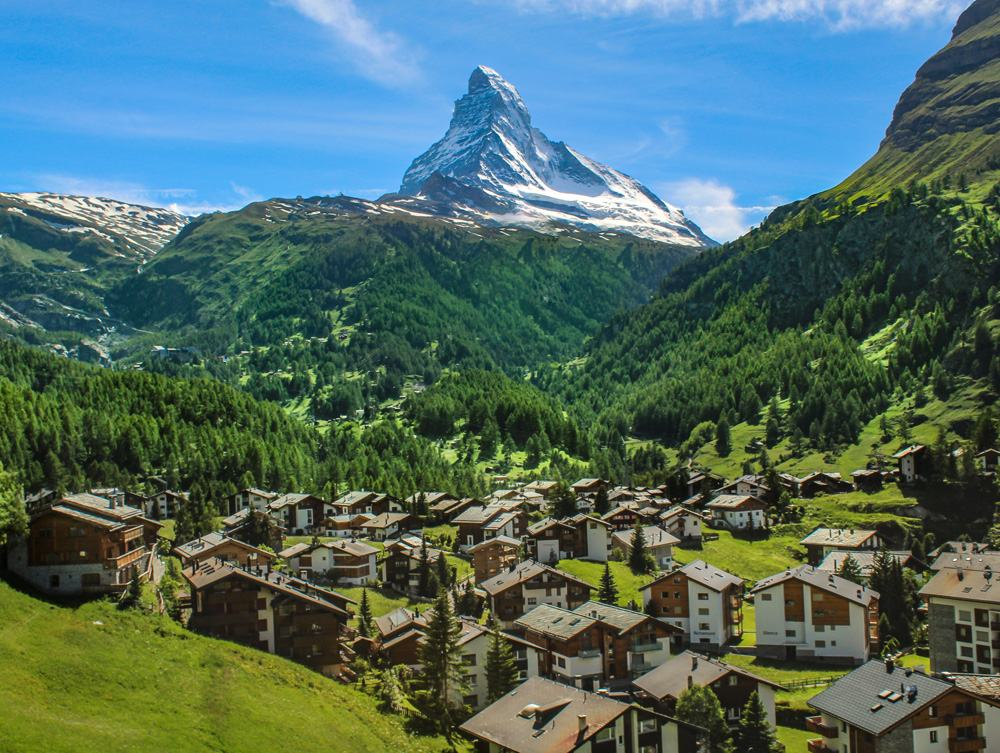 Village of Zermatt in front of the Matterhorn, Switzerland