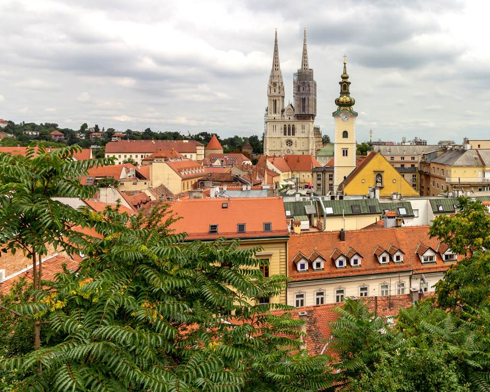 Zagreb Cathedral and Saint Mary at Dolac, Zagreb, Croatia