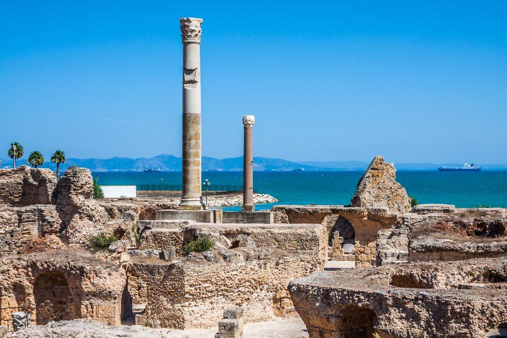 Ancient ruins at Carthage, Tunisia