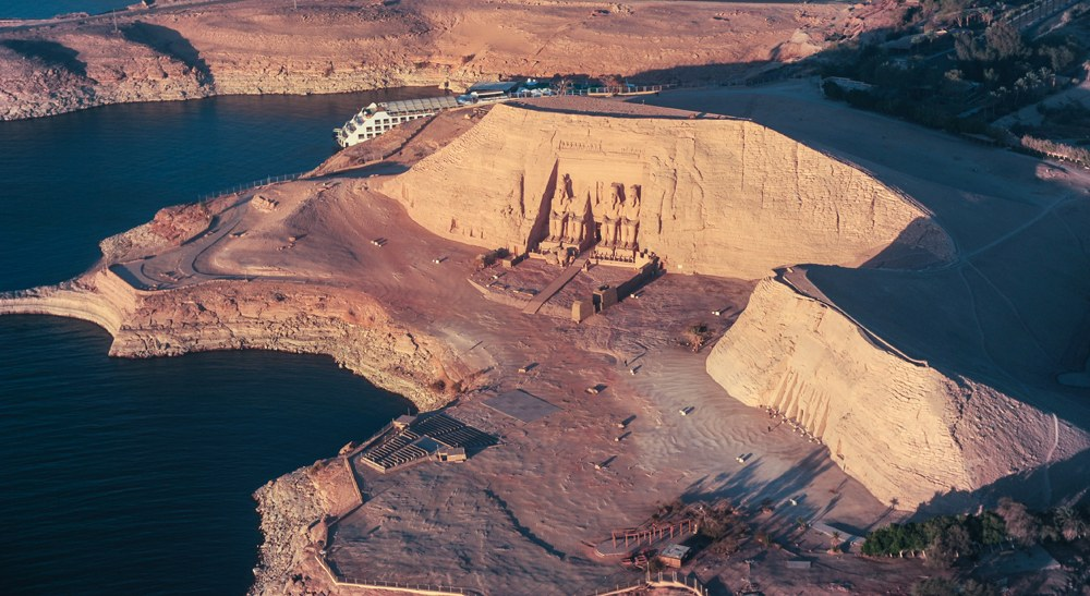 Ariel view of Abu Simbel temples, Egypt