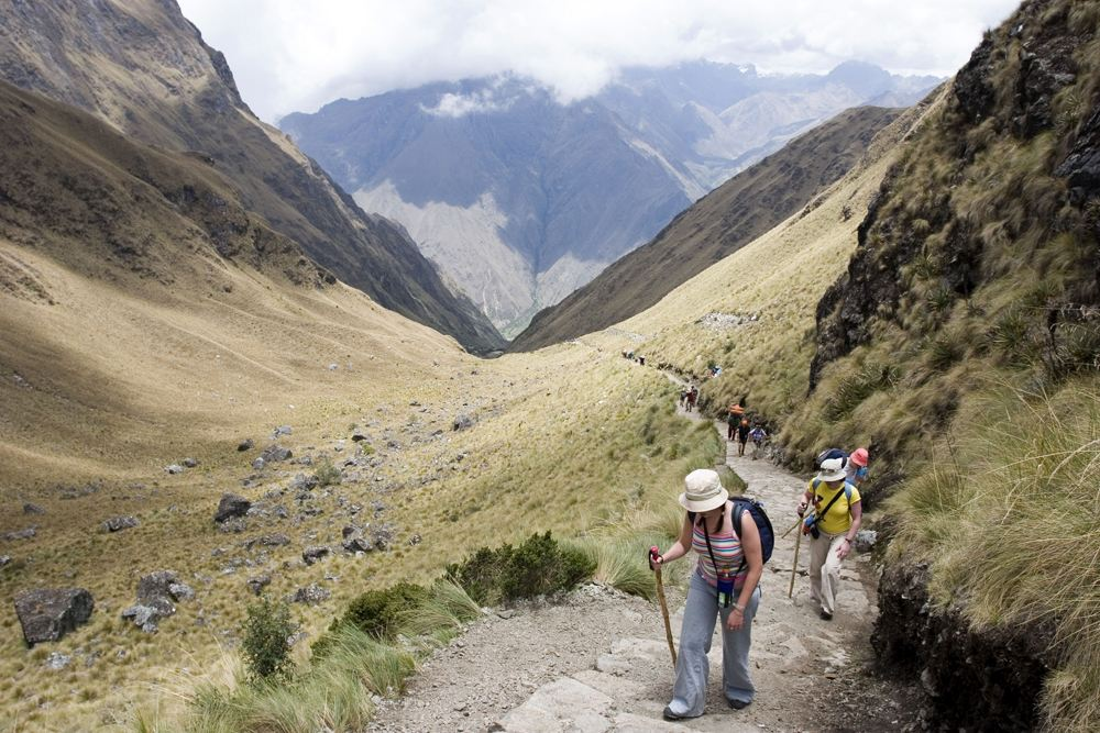 Dead Woman's Pass (Warmiwanusca) on the Inca Trail, Sacred Valley, Peru