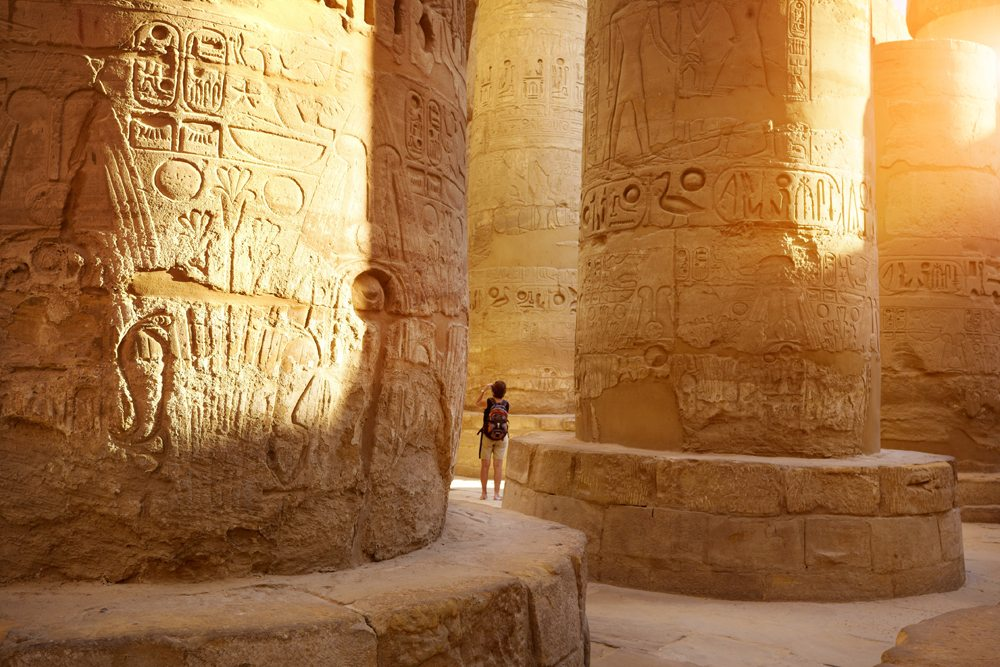 Hypostyle Hall in Karnak Temple, Luxor, Egypt