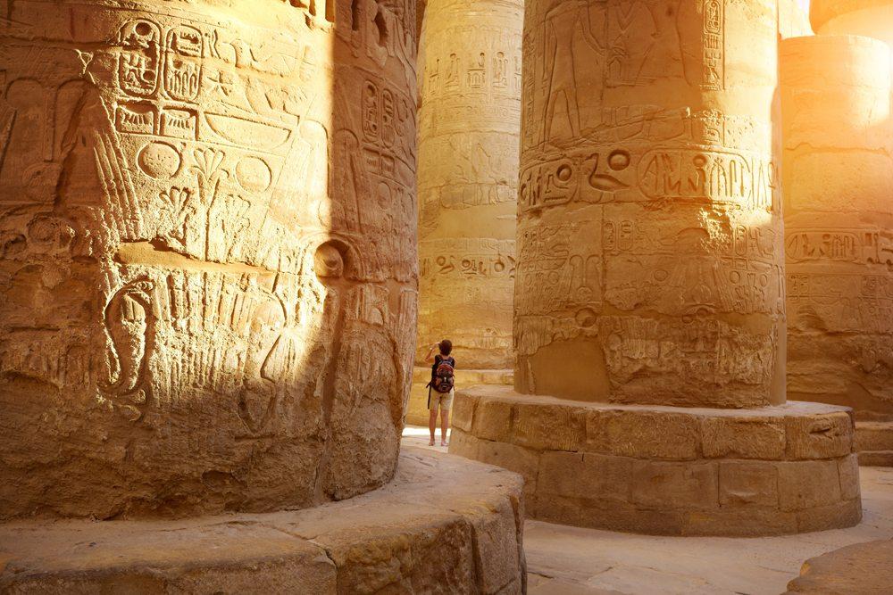 Hypostyle Hall in Karnak Temple, Luxor, Egypt