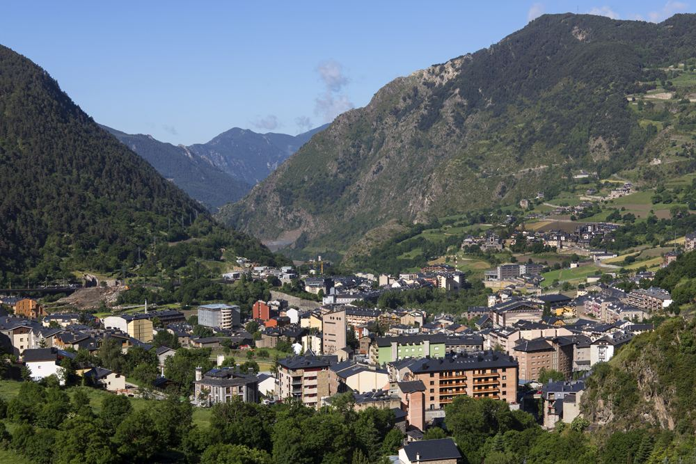 Panoramic view of Andorra La Vella, Andorra