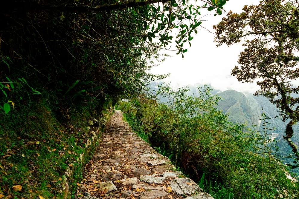 Path to Sun Gate (Intipunku) in Machu Picchu, Peru