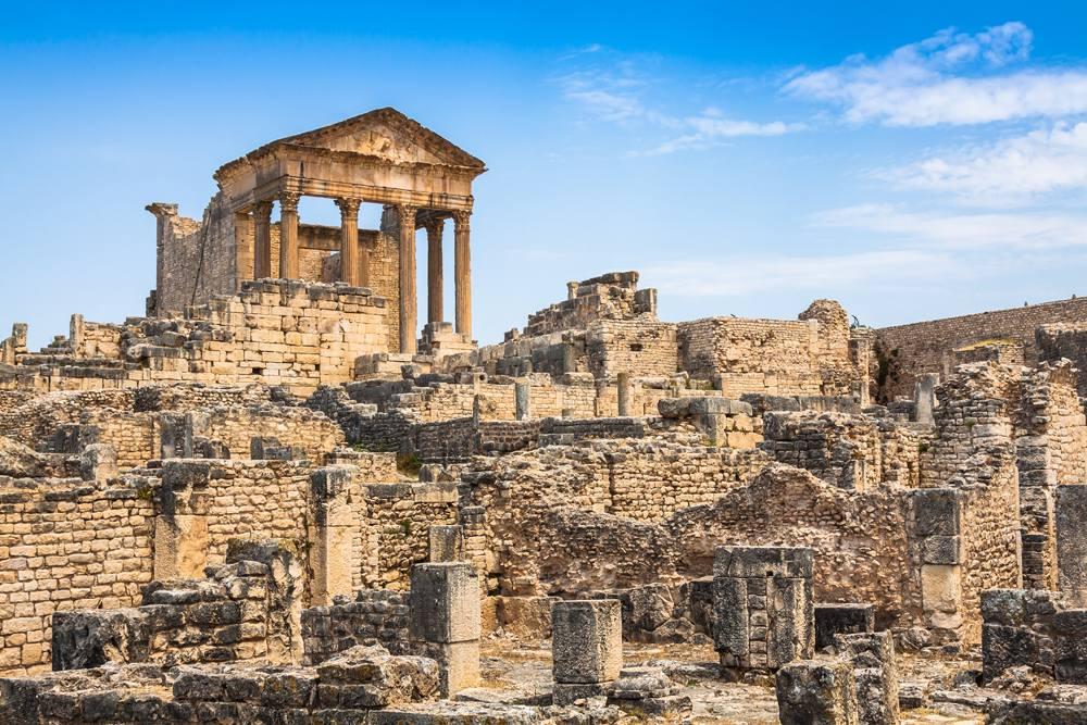 Roman ruins in Dougga, Tunisia