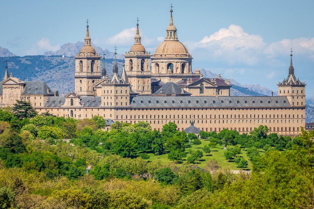Royal Seat of San Lorenzo de El Escorial, near Madrid, Spain ,