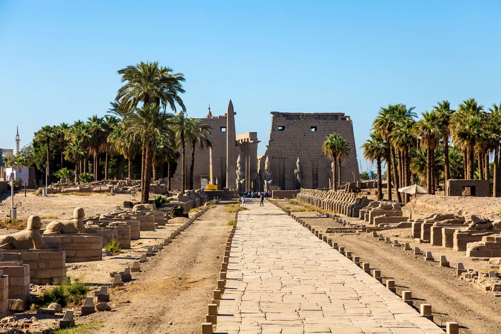 Temple of Luxor with Avenue of Sphinxes, Luxor, Egypt