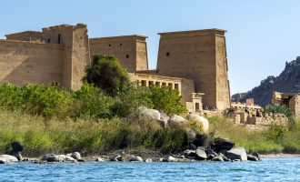 Temple of Philae along the Nile in Aswan, Egypt