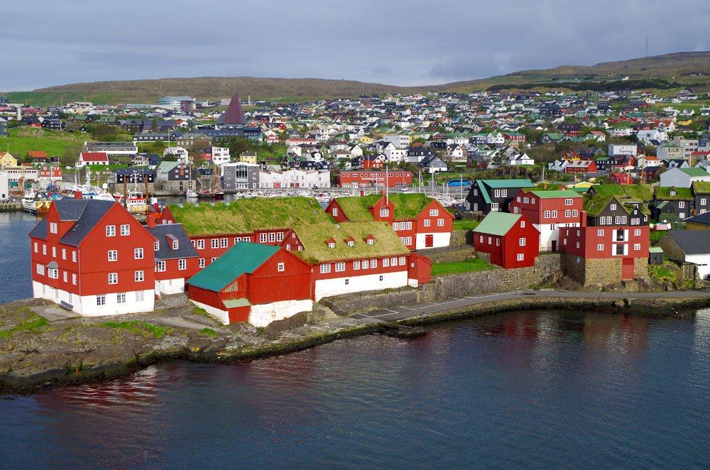 Tinganes, the historic location of the Faroese government in Torshavn, Faroe Islands