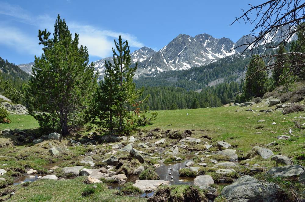 Upper part of the Vall-de-Madriu-Perafita-Claror, Andorra
