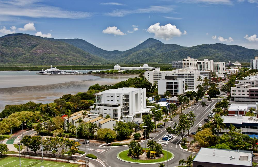 Aerial view of Cairns, Queensland, Australia