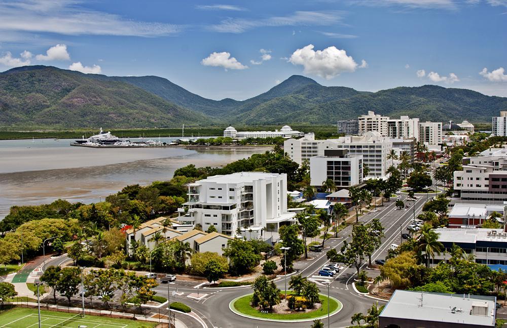 Aerial view of Cairns, Queensland, Australia