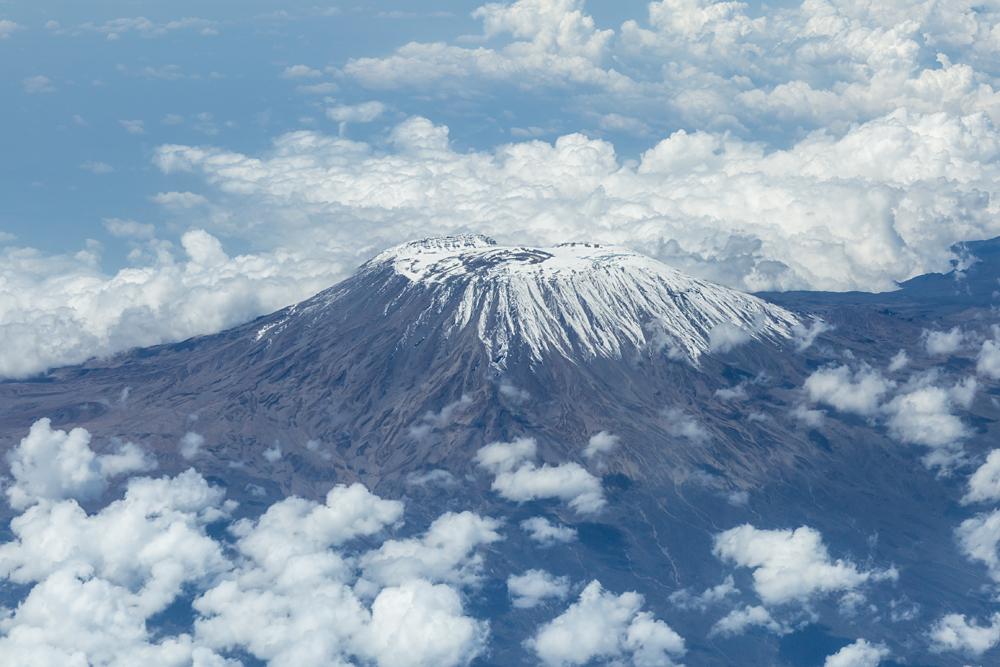 Aerial view of Mount Kilimanjaro, Tanzania