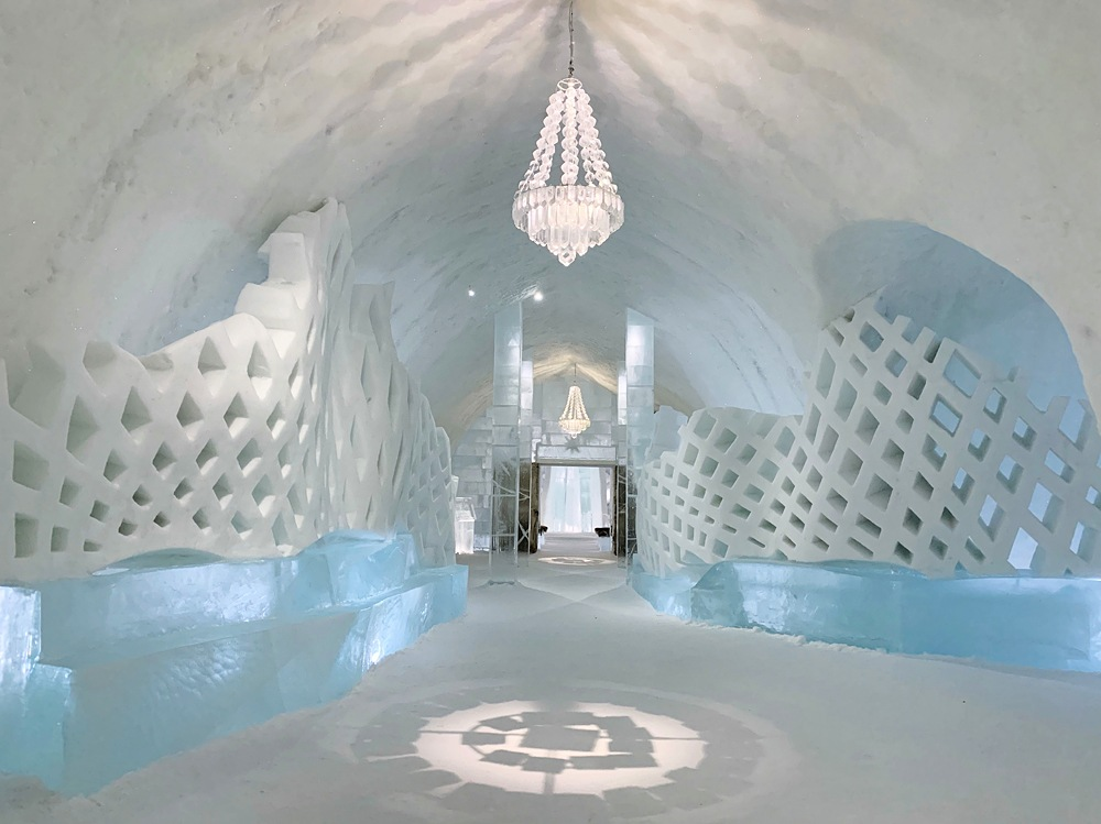 Frozen paradise inside the Ice Hotel in Kiruna, Sweden