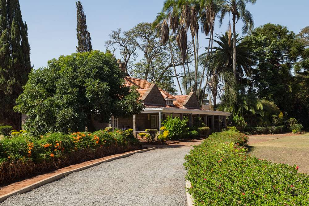 House of Karen Blixen seen from the front, Ngong Hills, Kenya
