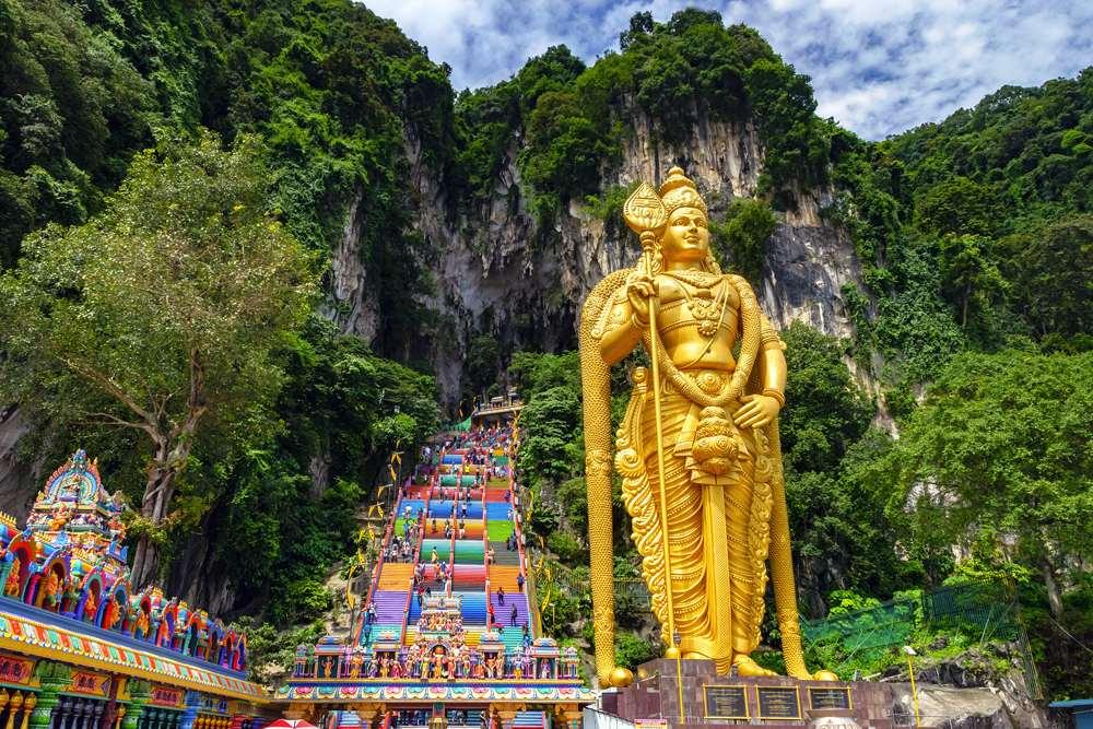 Lord Murugan statue at entrance of Batu Caves, near Kuala Lumpur, Malaysia