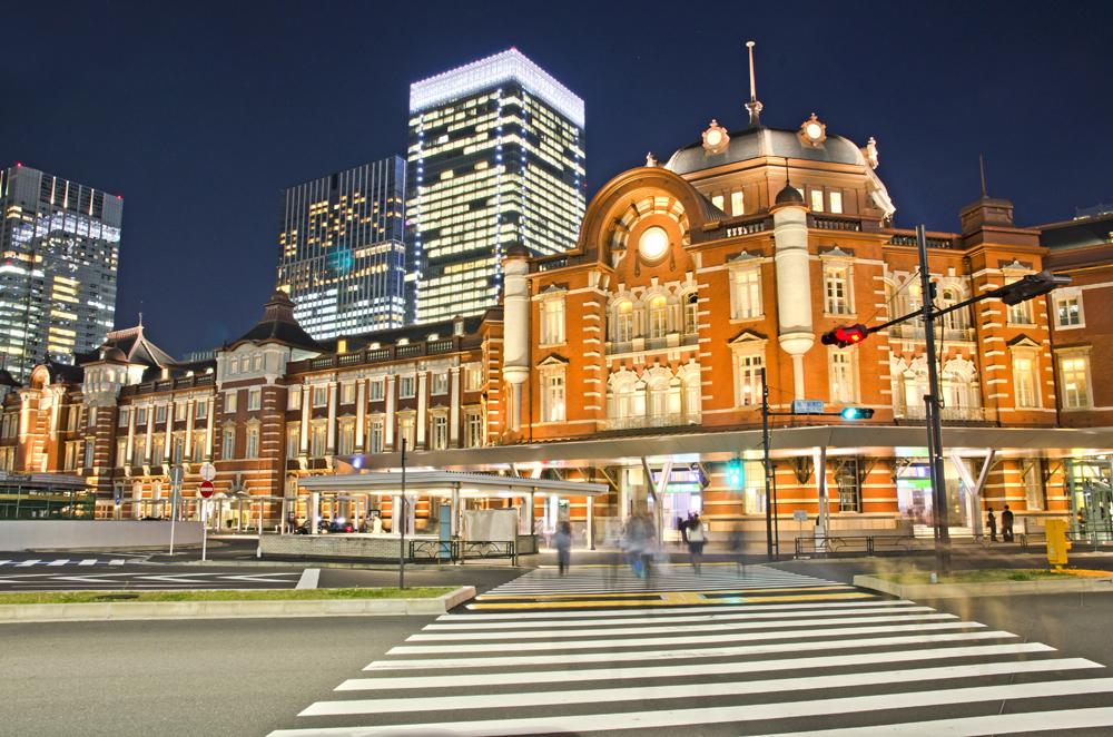 Night view of Tokyo Station, Tokyo, Japan